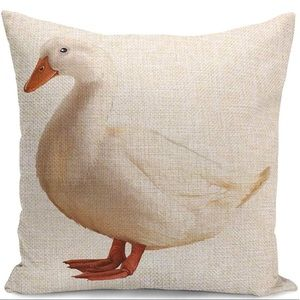 Other - Pillow Cover-New- Duck Goose Bird on the Farm Barn